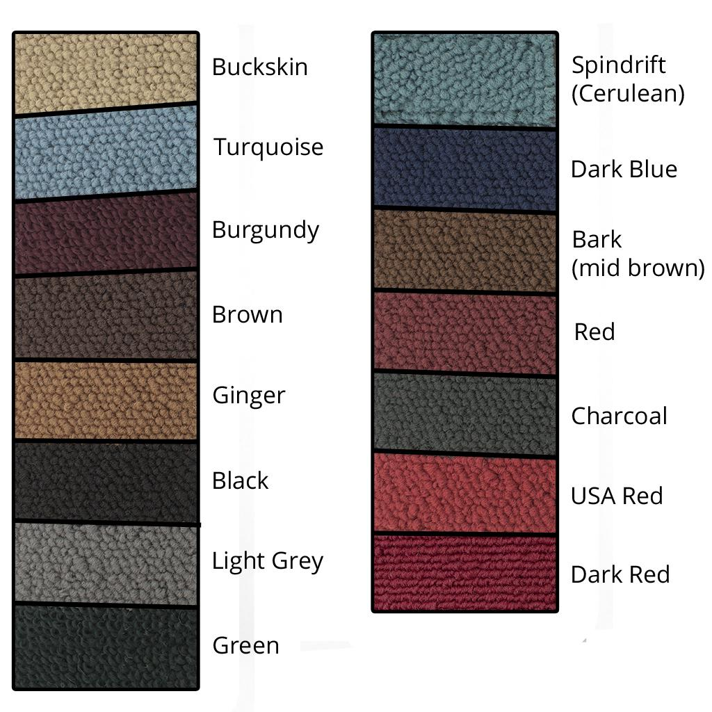 Colour sample chart